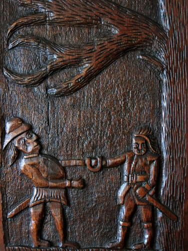 17th Century Oak Folklore Carving