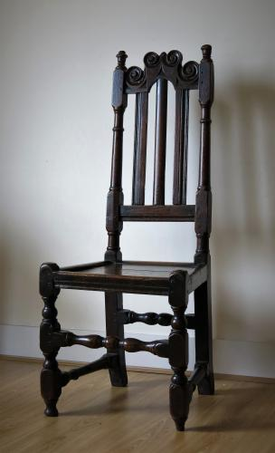 17th Century Oak Slat Back Chair