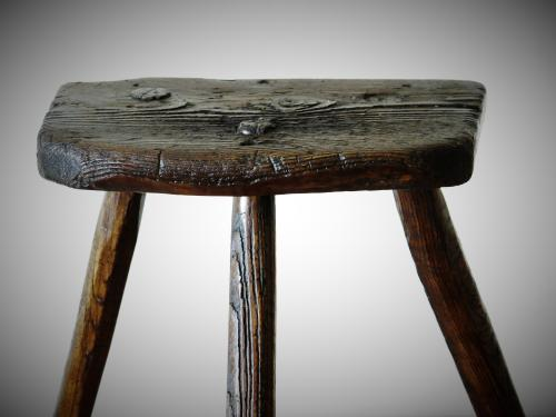 19th Century Elm Cutlers Stool