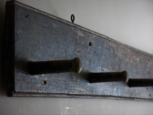 Estate Made Painted Pine Tack Board Late 1800s