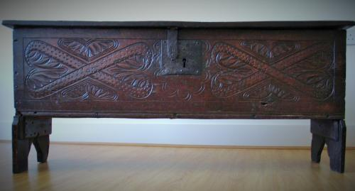 16th Century Oak Boarded Chest