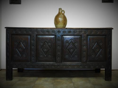 17th Century Charles II Joyned Chest