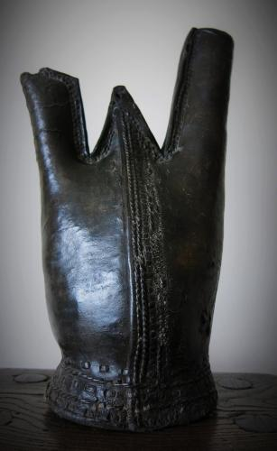 17th Century Leather Costrel