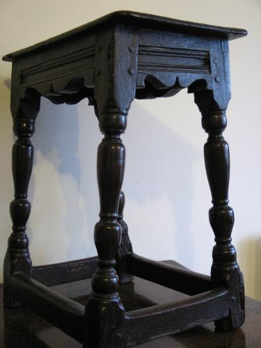 17th Century Oak Charles 1st Joynt Stool