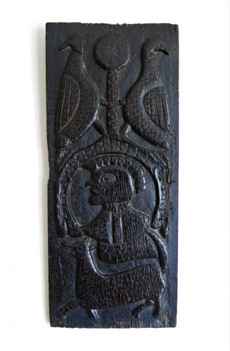 17th Century Oak Profile Panel