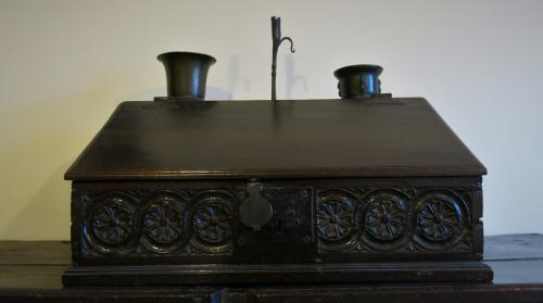 17th Century Oak Slope Front Desk Box