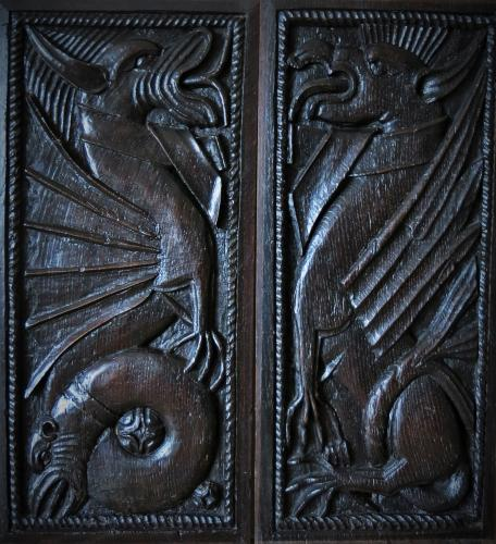 17th Century Oak Welsh Dragons