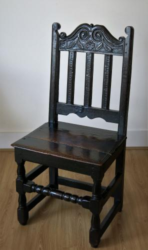 17th Century Oak Yorkshire Back Stool