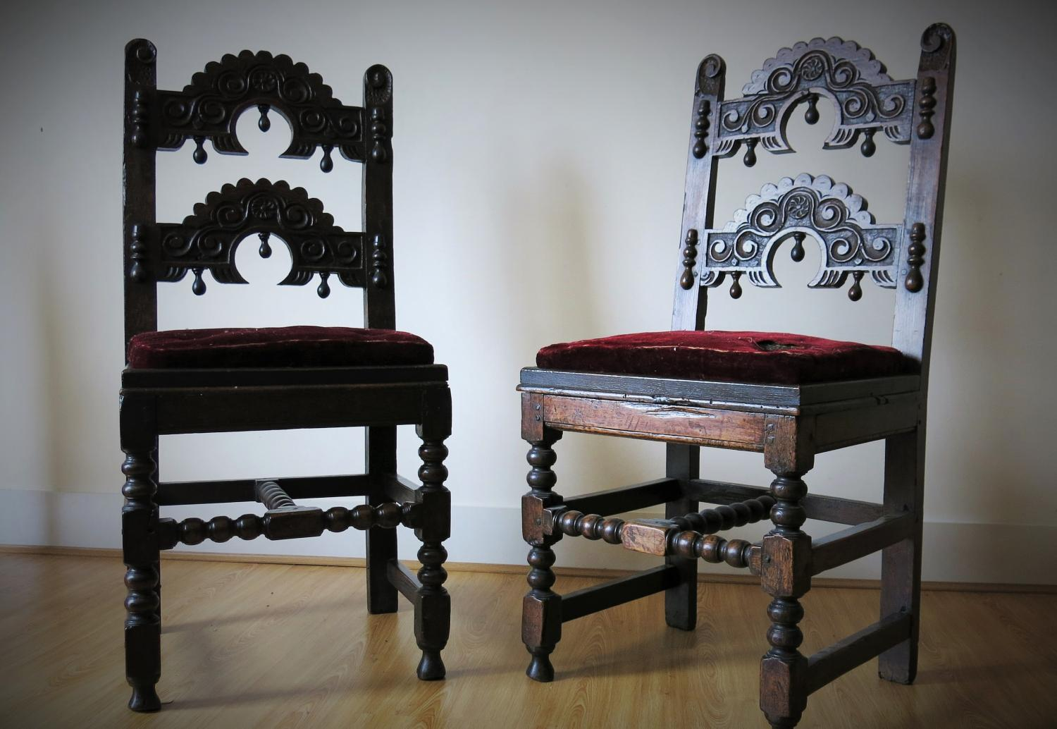 Chair table 17th century - 17th Century Yorkshire Derbyshire Oak Chairs