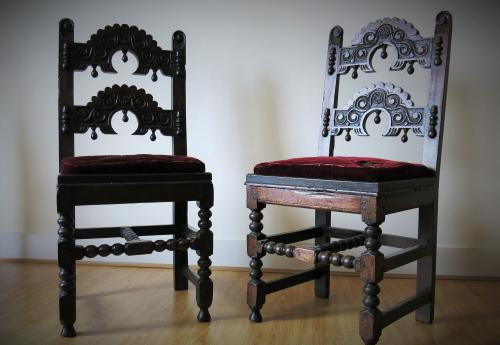 17th century Yorkshire Derbyshire Oak Chairs