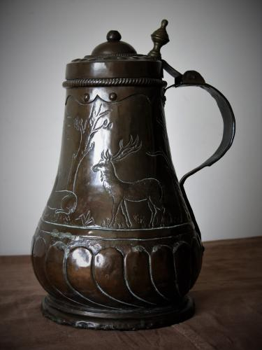 18th Century German Copper Wine Flagon