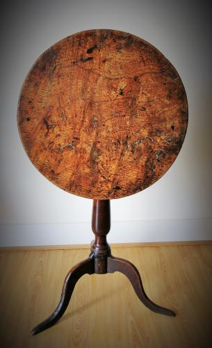 18th Century Pollard Oak Tilt Top Table