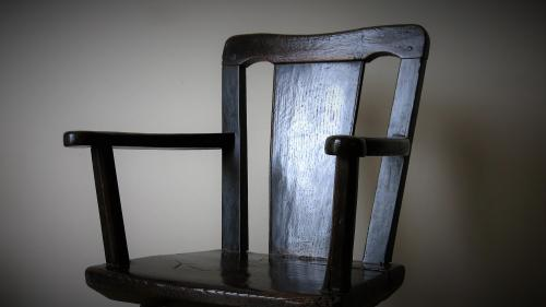 18th Century Primitive Oak Chair