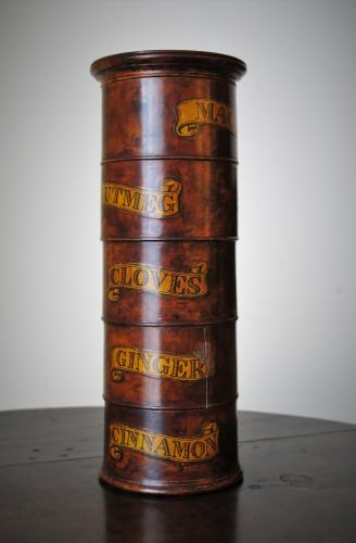 19th Century 5 Tier Burr Sycamore Spice Tower