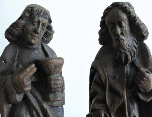 Apostles Oak Sculpture Germany C.1500