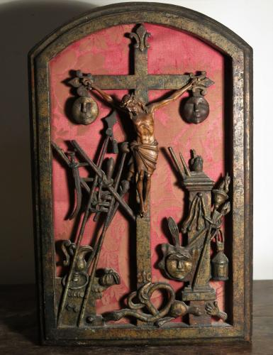 Arma Christi Weapons Of Christ Wood Relief 18th Century