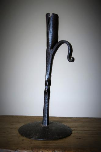 Early 18th Century wrought Iron Candle Holder