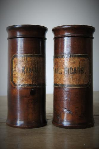 Early 19th Century Beech Wood Apothecary Jars