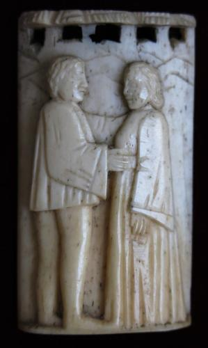 Embriachi Workshop XV th Century Courting Couple
