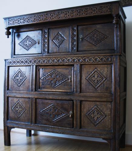 English 17th Century Press Cupboard