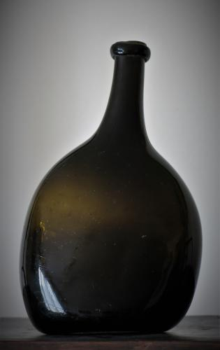 English 18th Century Bladder Wine Bottle