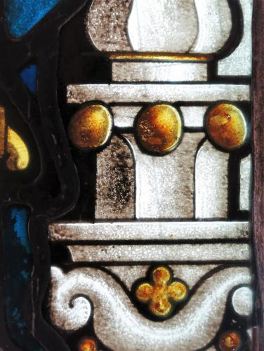 English Architectural Stained Lead Glass Element