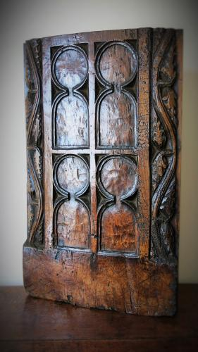 English Gothic Bench End 15th Century