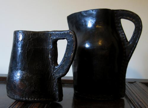 English leather Tankard & Jack
