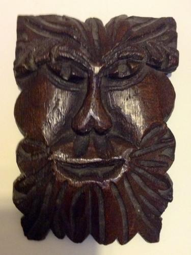 English Oak Green Man Heads