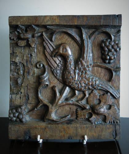 English Oak Tudor Panel 16thC