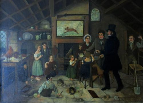 English Primitive School 19th Century