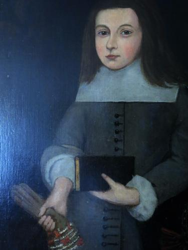 English Provincial School 17th Century Oil on Canvas