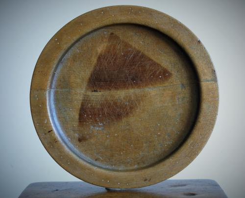 English Sycamore Platter 19th Century.