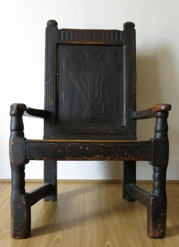 Fear God Dated Scottish Pine Armchair 1685
