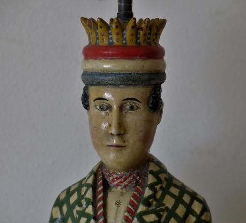 Folk Art Figural Pipe Late 19th Century