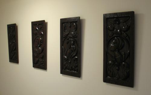 French Romayne Oak Portrait Panels