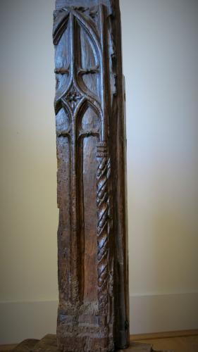 Gothic Oak Bench End Cornwall 1400s
