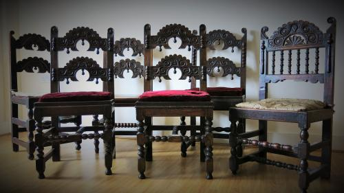 Harlequin Set Of Yorkshire / Derbyshire Chairs