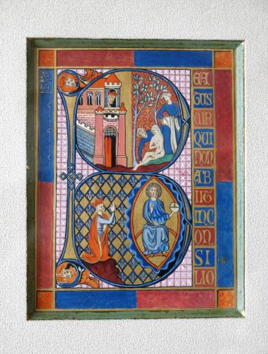 Illuminated Text Initial B 15th / 16th Century