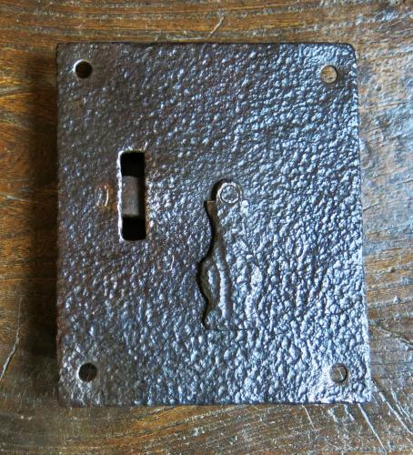 Large English Iron Lockplate