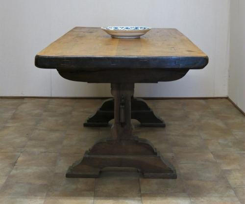 Gothic Oak Trestle Table XIX