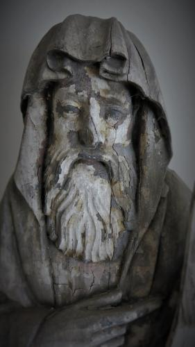 Oak Figure Of A Saint 17th Century