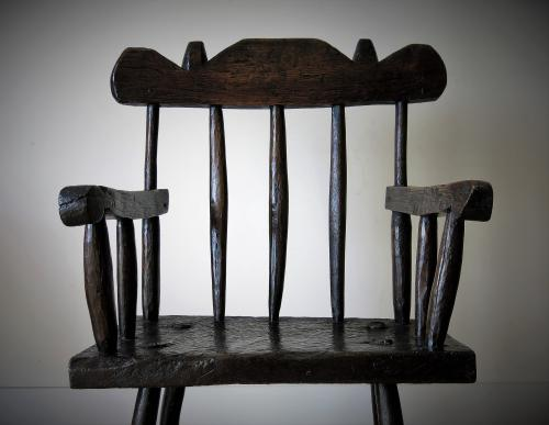 Primitive Oak Chair
