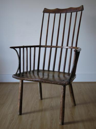Primitive West Country Comb Back Chair