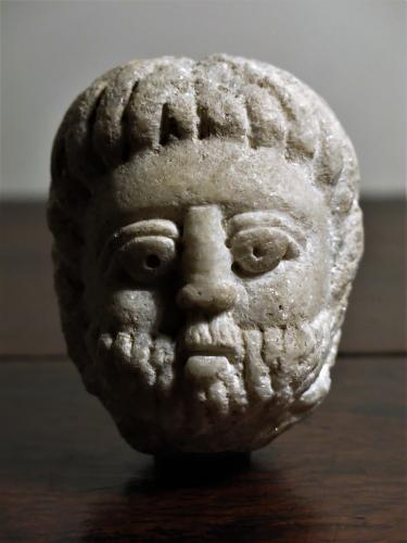 Rare Janus Stone Head 15th / 16th Century