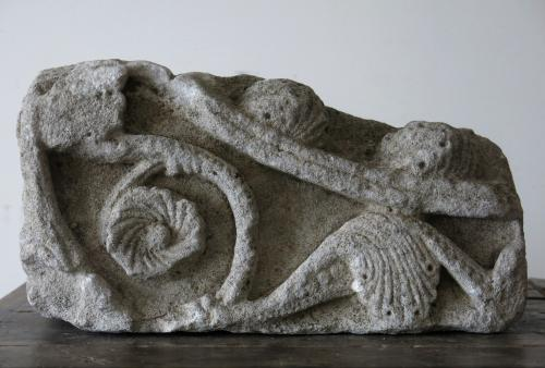 Romanesque Stone Fragment 12th Century