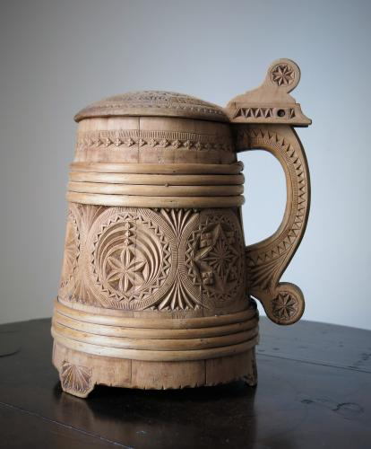 Scandinavian Birchwood Tankard