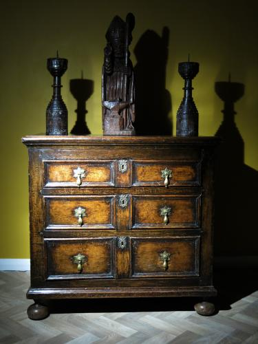 Small 17th Century Oak Chest Of Drawers