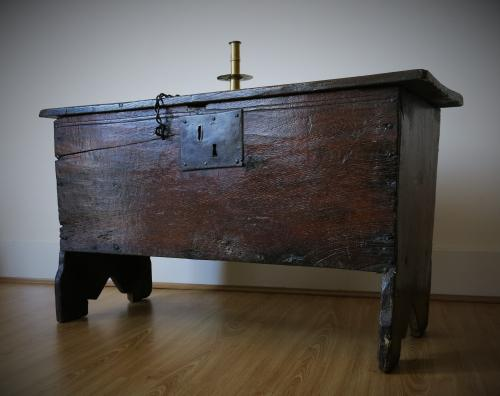 Small Elizabethan Boarded Chest