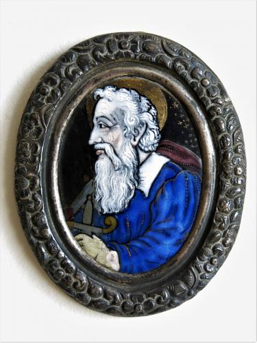 St Paul Oval Enameled Copper Plate XVIIth